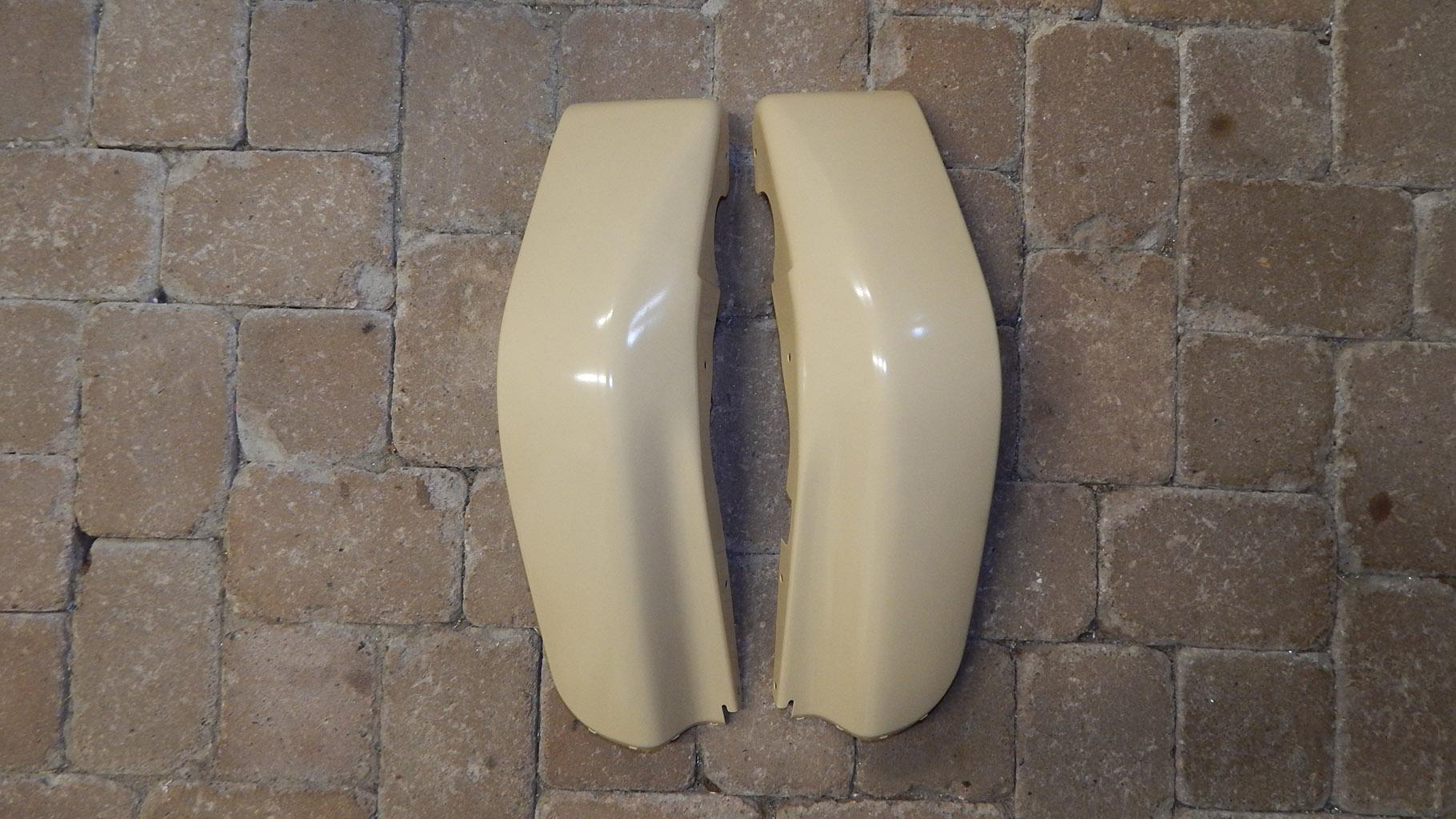 Simson SR50 Set Kniebleche (re. u. li.) in RAL1001 (beige) gepulvert. Preis: 229,47€